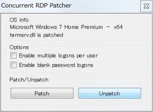 Concurrent_RDP_Patcherの設定画面