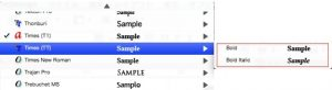 Tyoe1で追加されたフォントはTrueTypeのリストからなくなる